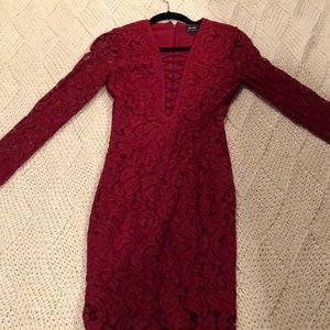 Bardot Dresses - Bardot burgundy lace dress